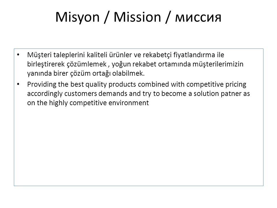 Misyon / Mission / миссия