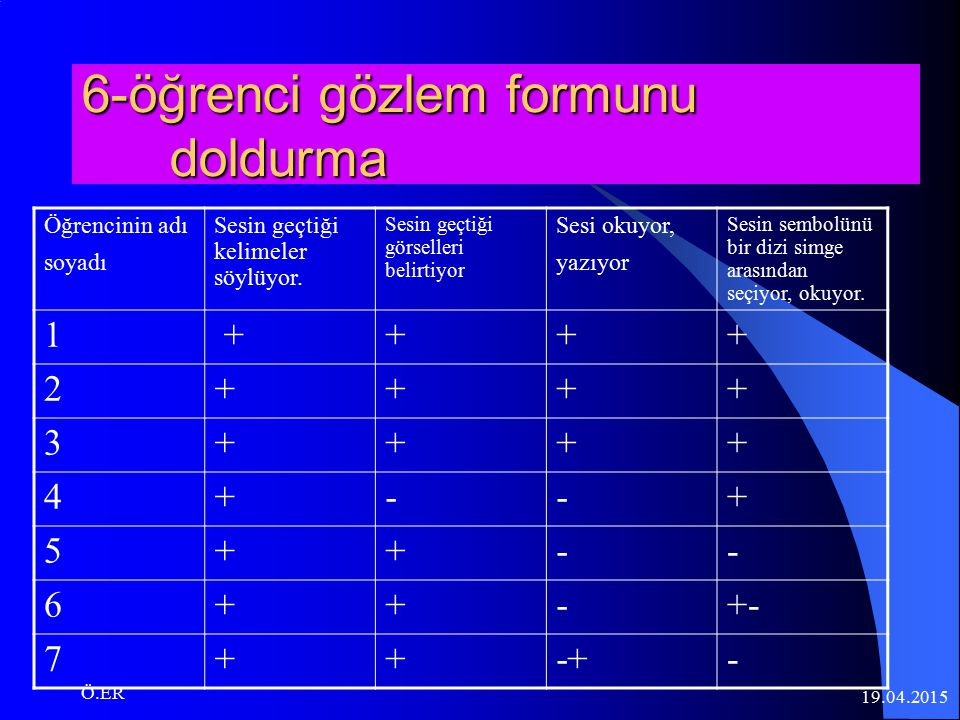 6-öğrenci gözlem formunu doldurma