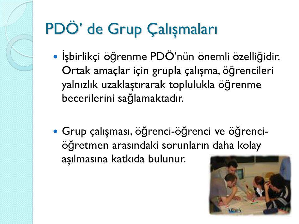PDÖ' de Grup Çalışmaları