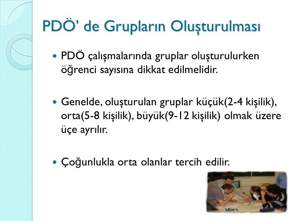 PDÖ' de Grupların Oluşturulması