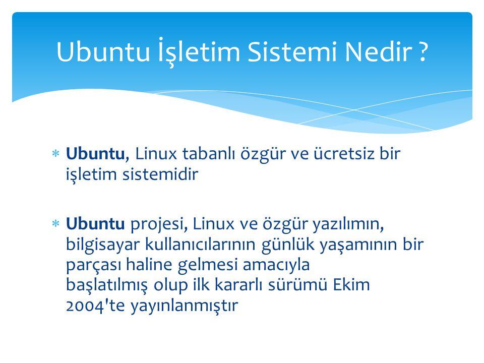 Ubuntu İşletim Sistemi Nedir
