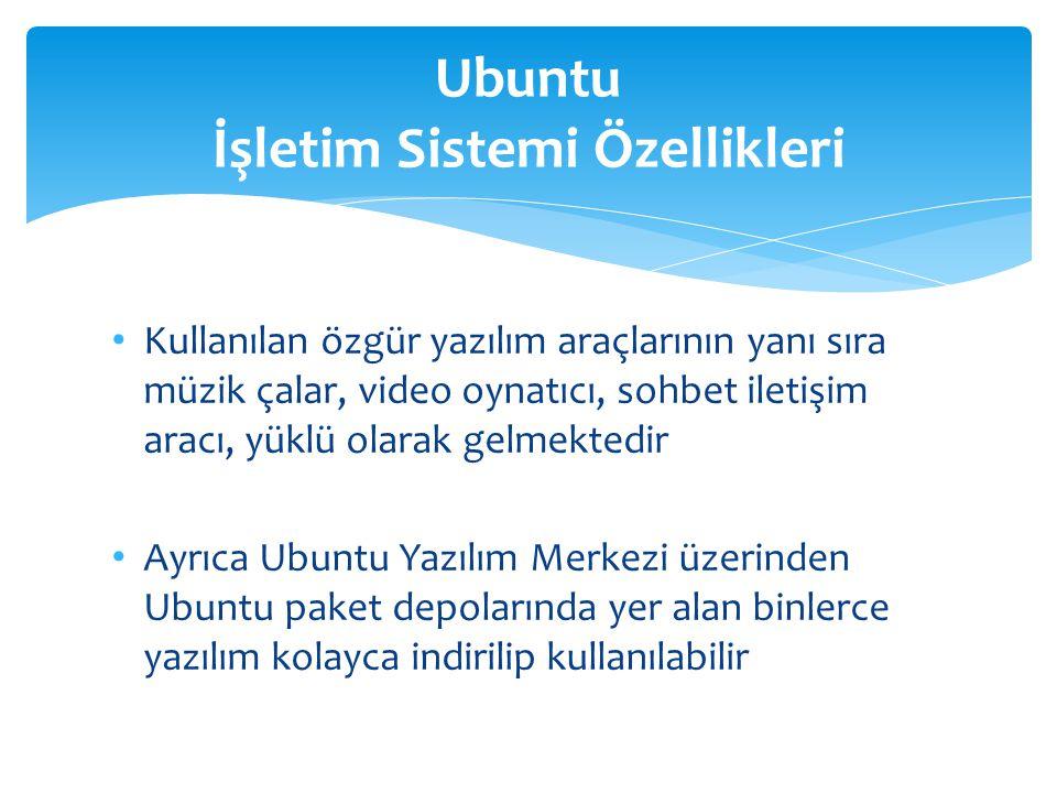 Ubuntu İşletim Sistemi Özellikleri
