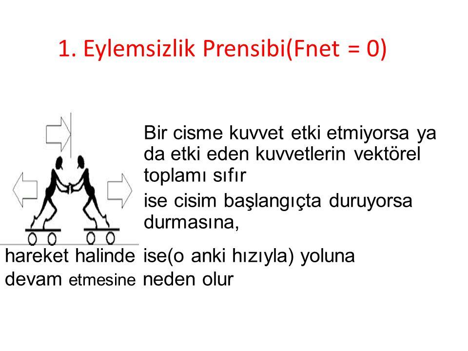 1. Eylemsizlik Prensibi(Fnet = 0)