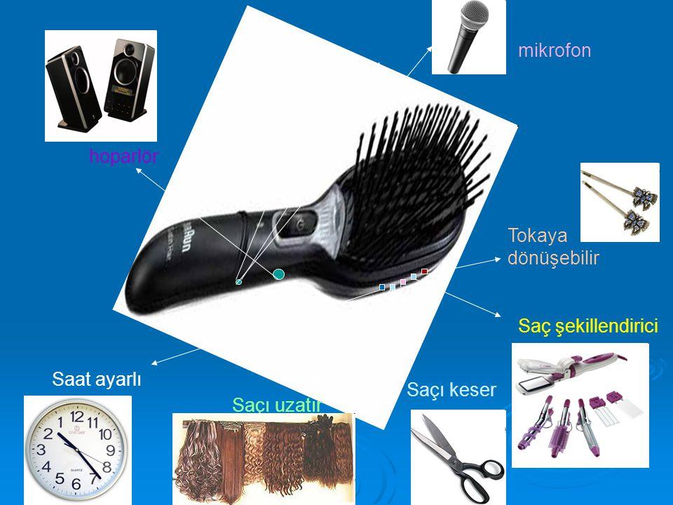 mikrofon hoparlör Tokaya dönüşebilir Saç şekillendirici Saat ayarlı Saçı keser Saçı uzatır