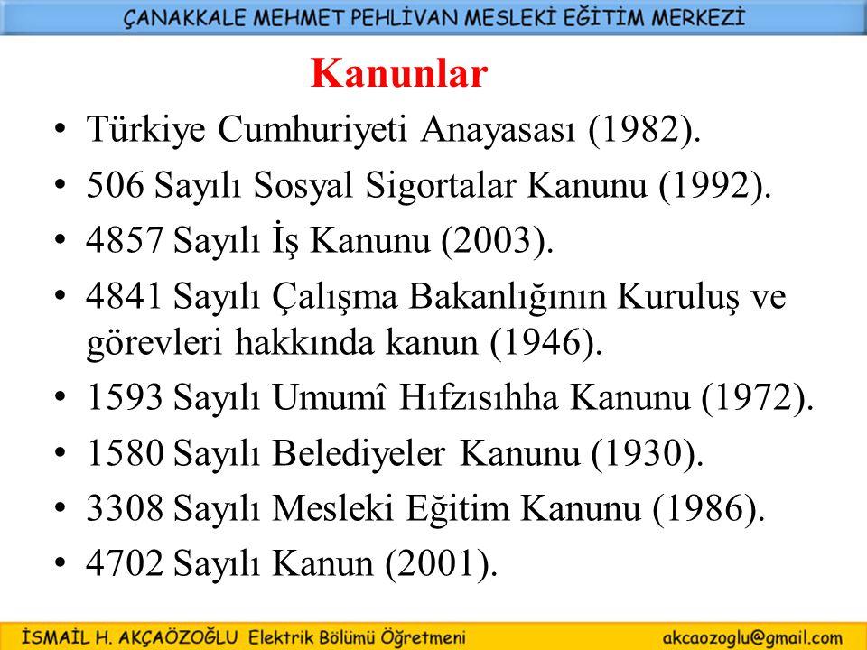 Kanunlar Türkiye Cumhuriyeti Anayasası (1982).