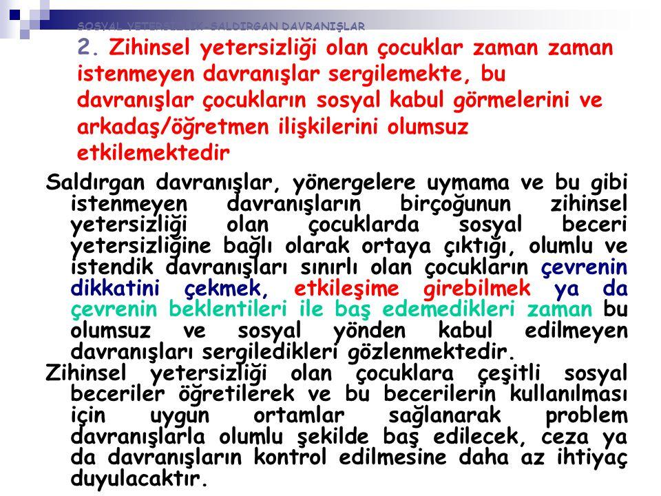 SOSYAL YETERSİZLİK-SALDIRGAN DAVRANIŞLAR 2