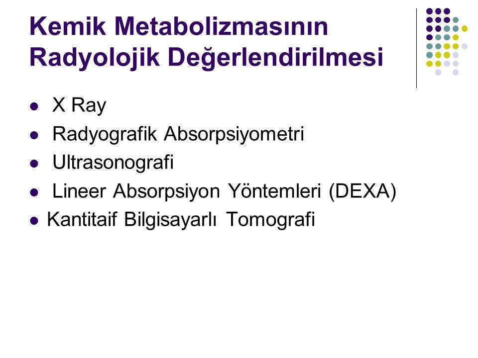 Kemik Metabolizmasının Radyolojik Değerlendirilmesi