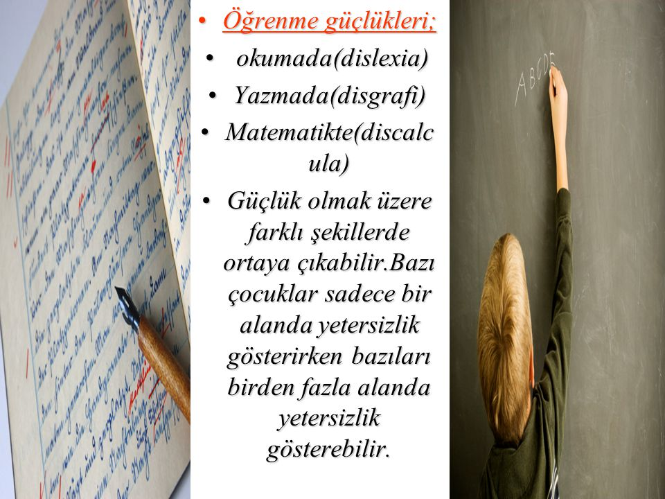 Matematikte(discalcula)