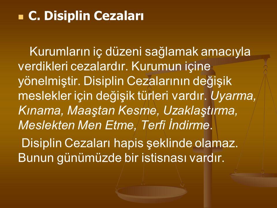 C. Disiplin Cezaları