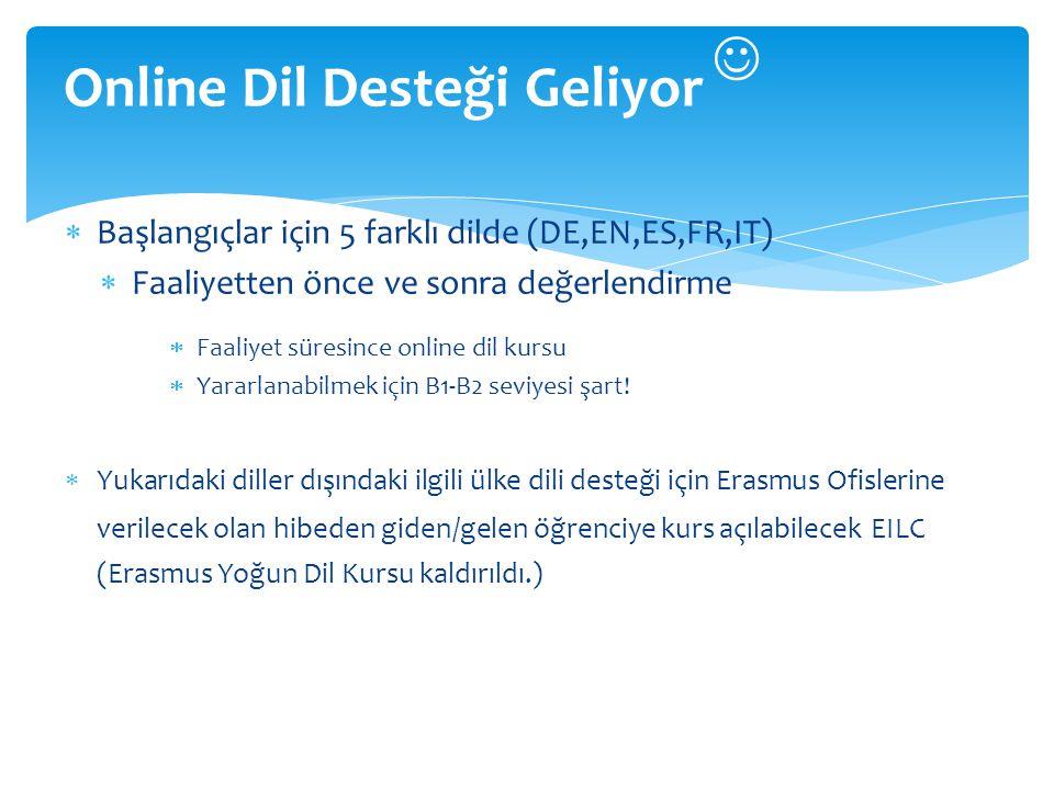 Online Dil Desteği Geliyor 