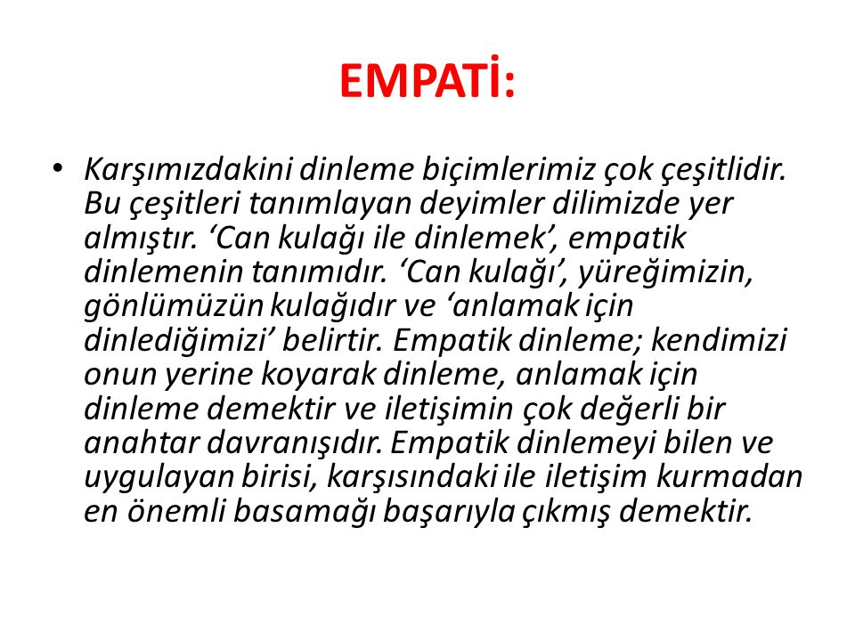 EMPATİ: