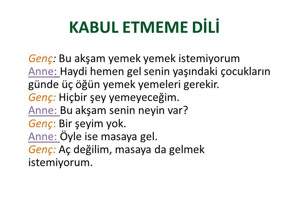 KABUL ETMEME DİLİ