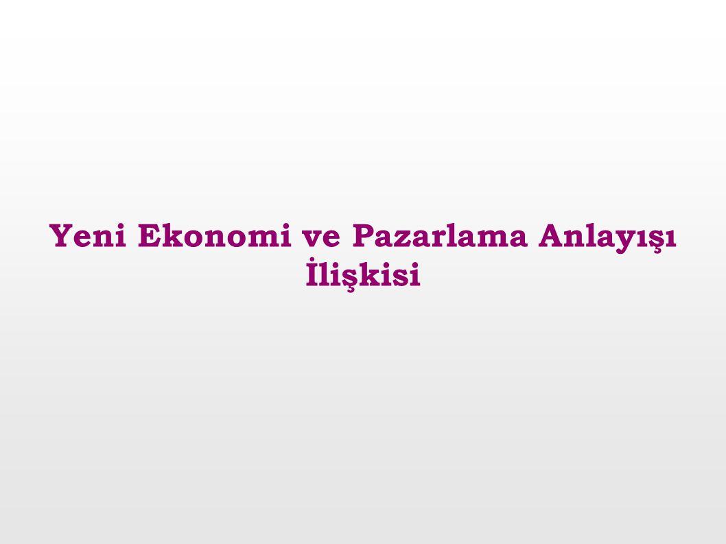 Yeni Ekonomi ve Pazarlama Anlayışı İlişkisi