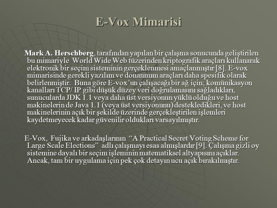 E-Vox Mimarisi