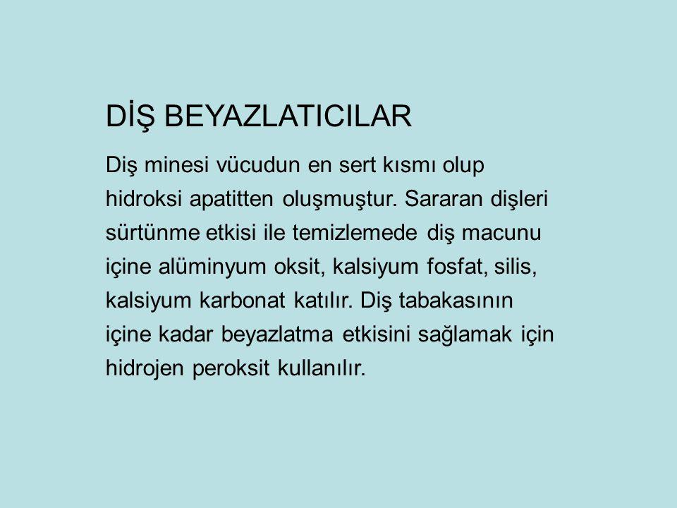 DİŞ BEYAZLATICILAR