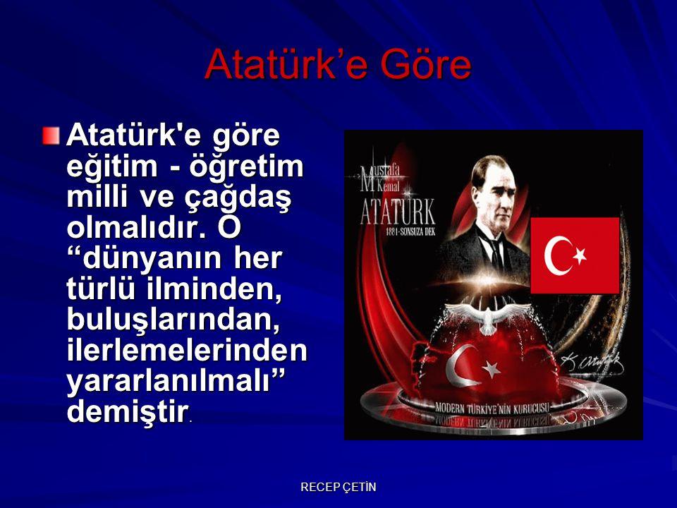Atatürk'e Göre