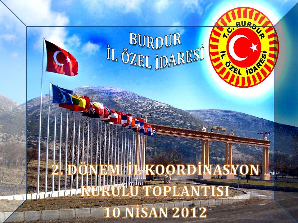 BURDUR İL ÖZEL İDARESİ 2. DÖNEM İL KOORDİNASYON KURULU TOPLANTISI