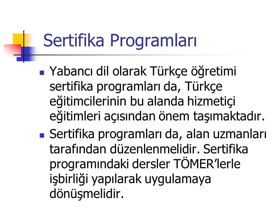 Sertifika Programları