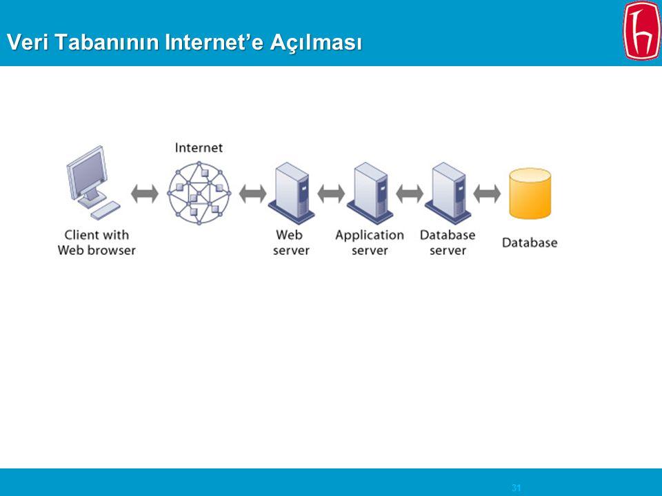 Veri Tabanının Internet'e Açılması