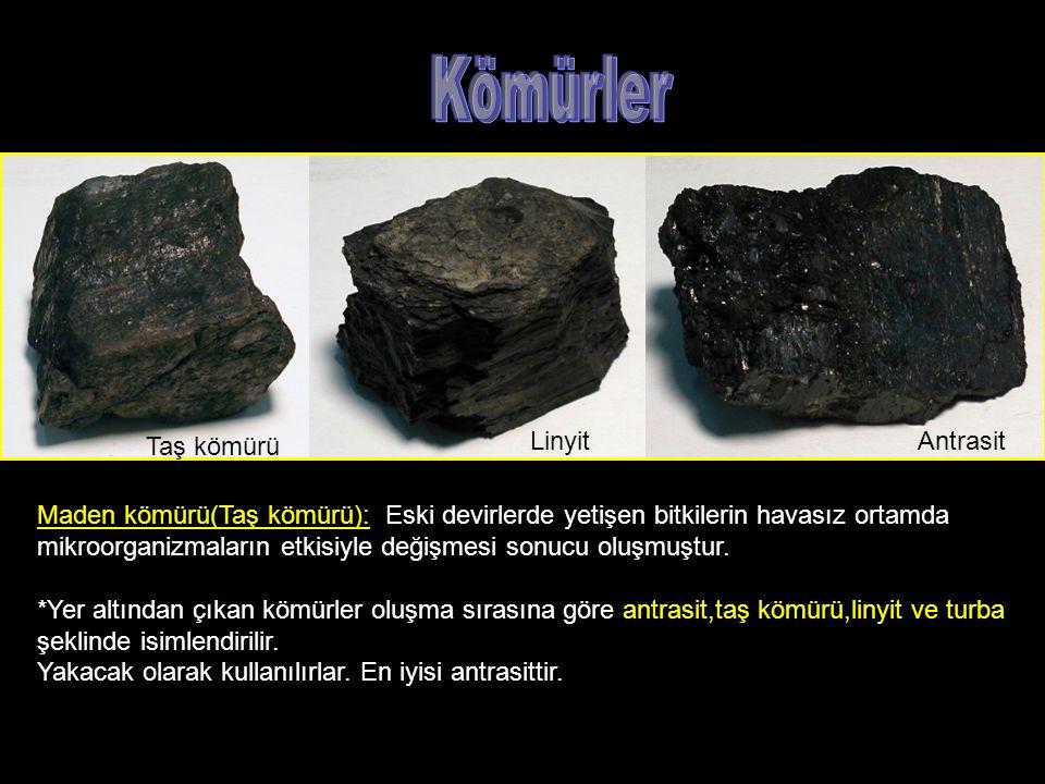 Kömürler Taş kömürü Linyit Antrasit