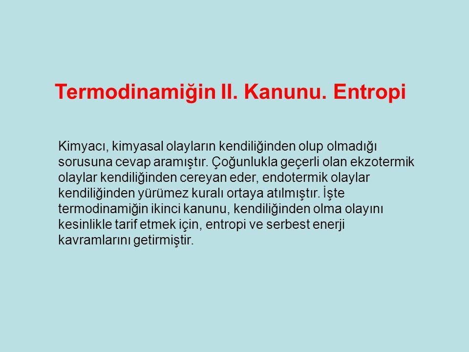Termodinamiğin II. Kanunu. Entropi