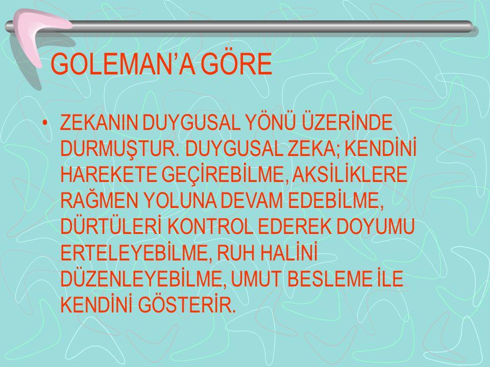 GOLEMAN'A GÖRE