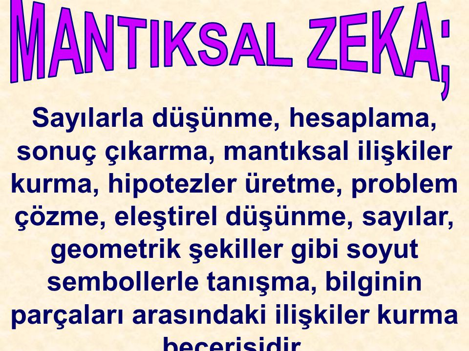 MANTIKSAL ZEKA;