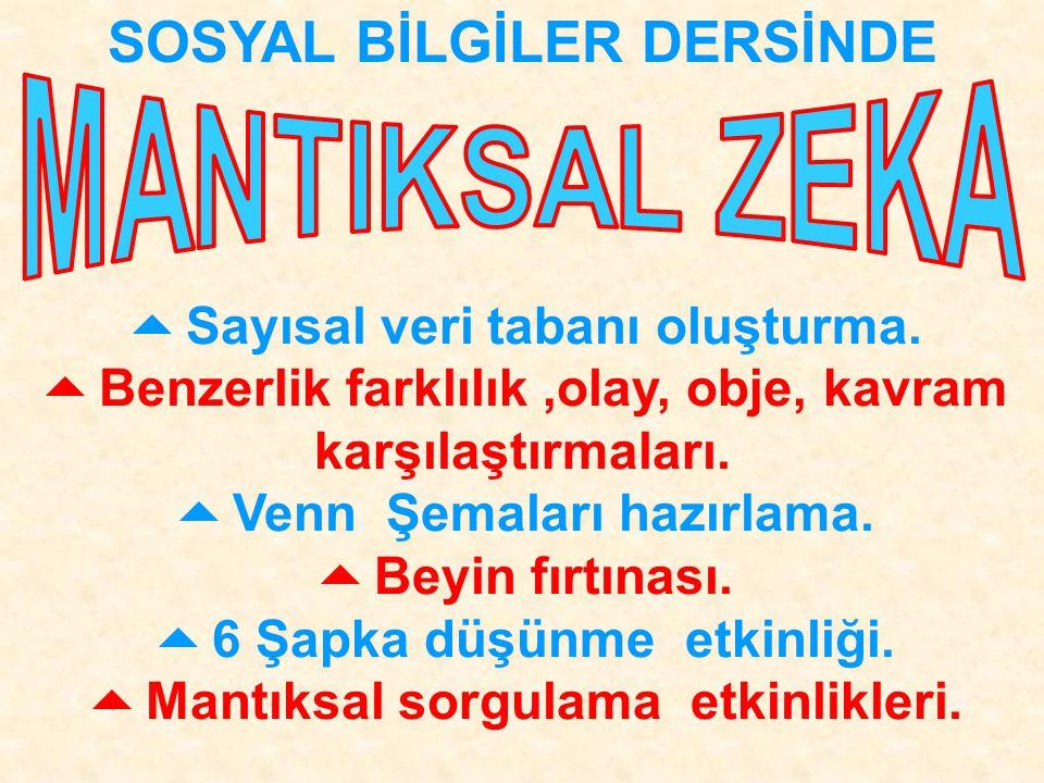 SOSYAL BİLGİLER DERSİNDE