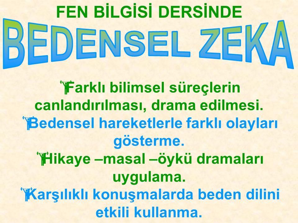 FEN BİLGİSİ DERSİNDE BEDENSEL ZEKA