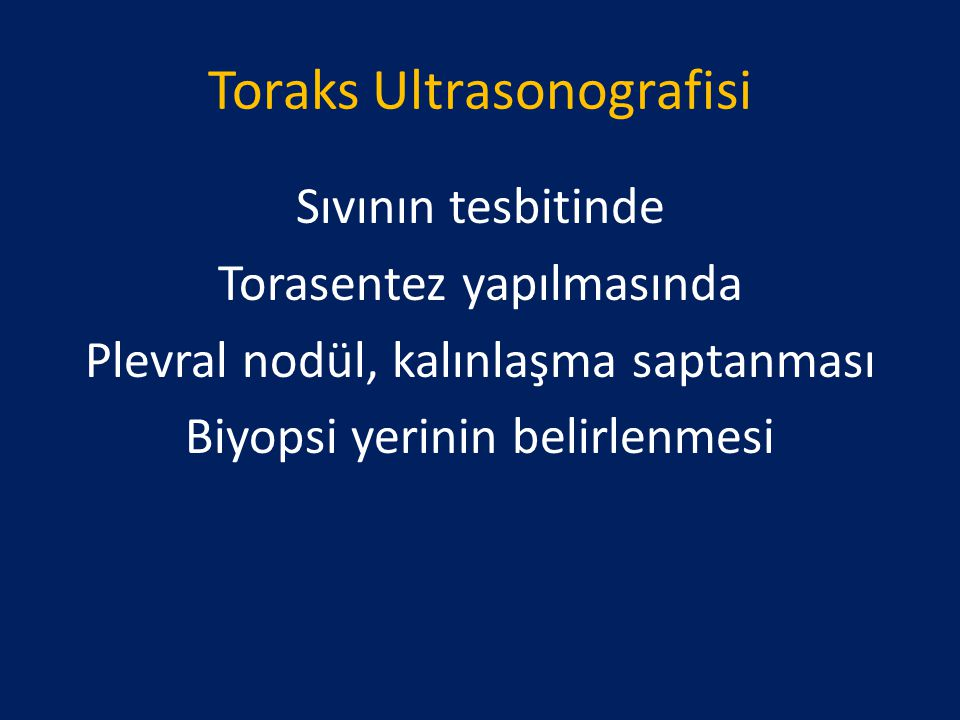 Toraks Ultrasonografisi