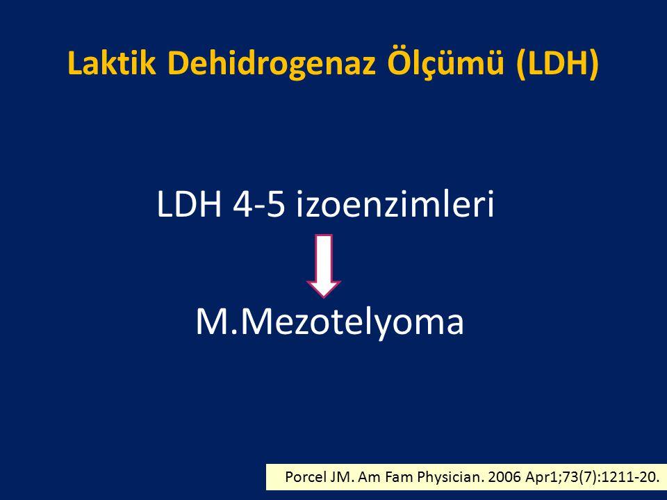 Laktik Dehidrogenaz Ölçümü (LDH)