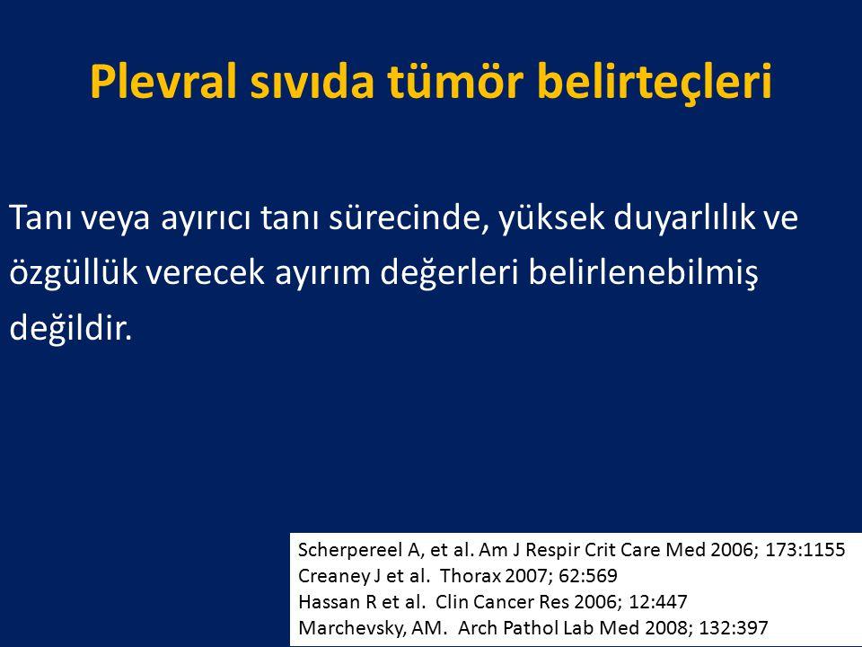 Plevral sıvıda tümör belirteçleri