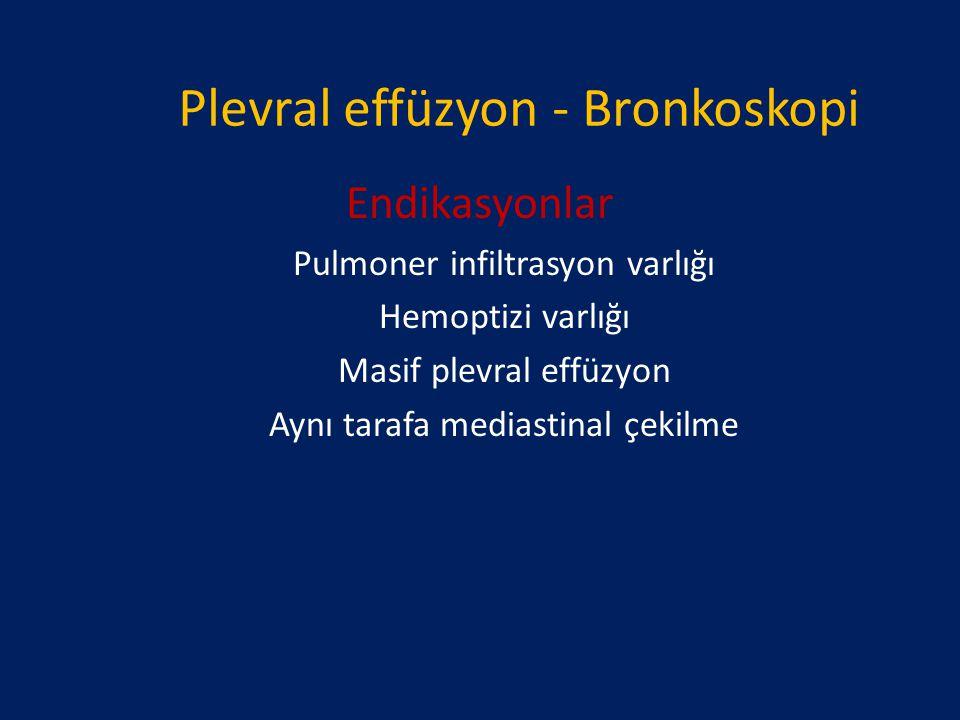 Plevral effüzyon - Bronkoskopi