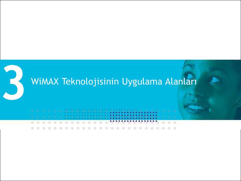 3 WiMAX Teknolojisinin Uygulama Alanları