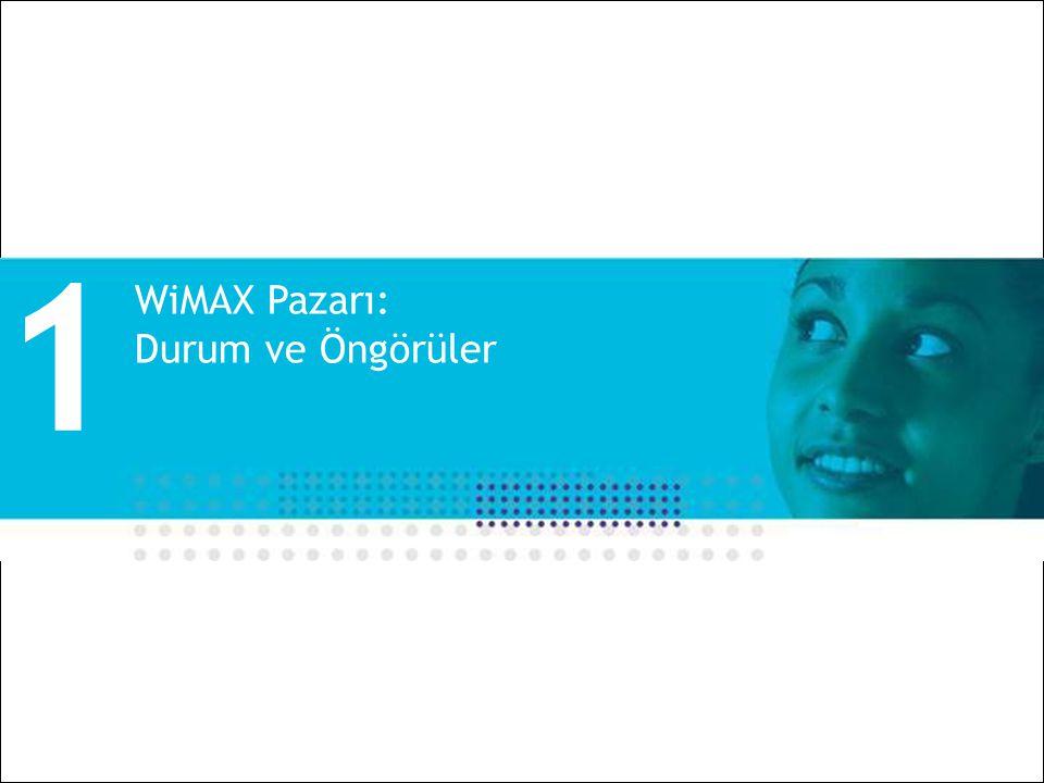 1 WiMAX Pazarı: Durum ve Öngörüler