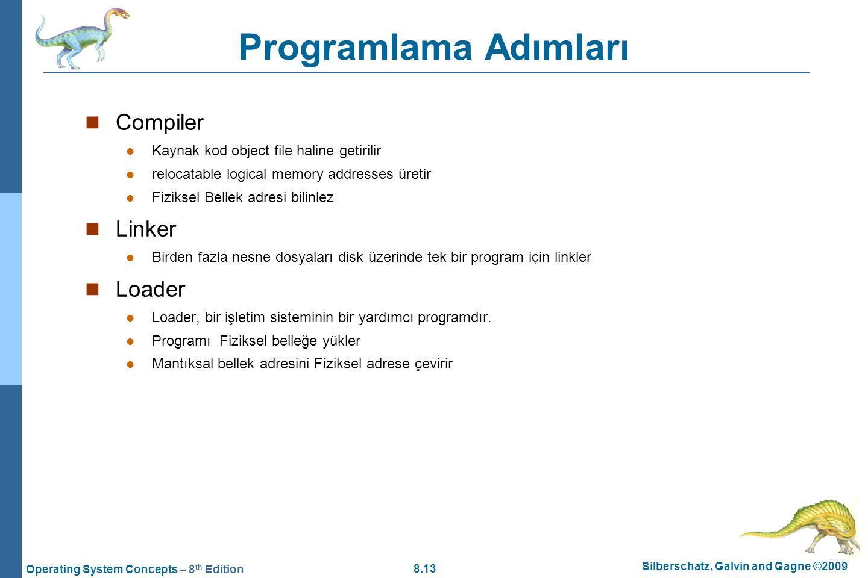 Programlama Adımları Compiler Linker Loader