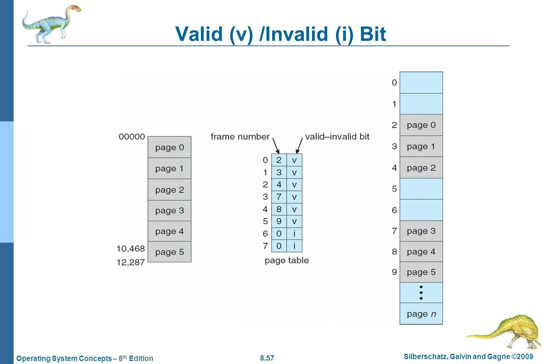 Valid (v) /Invalid (i) Bit