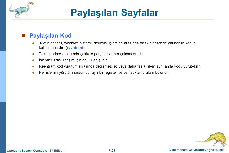 Paylaşılan Sayfalar Paylaşılan Kod