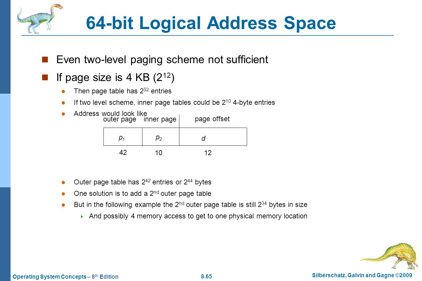 64-bit Logical Address Space