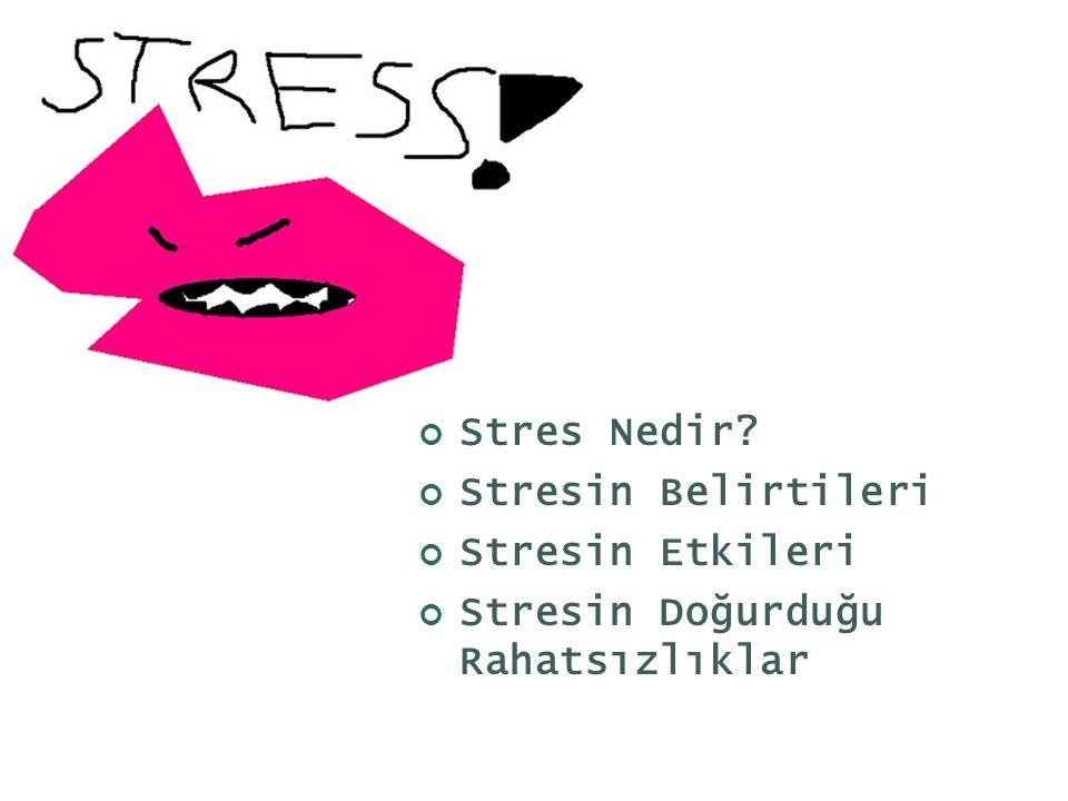Stres Nedir Stresin Belirtileri Stresin Etkileri Stresin Doğurduğu Rahatsızlıklar