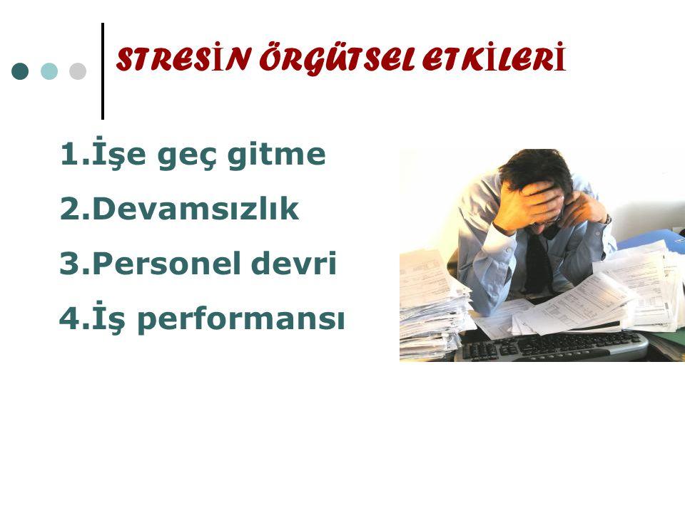 STRESİN ÖRGÜTSEL ETKİLERİ