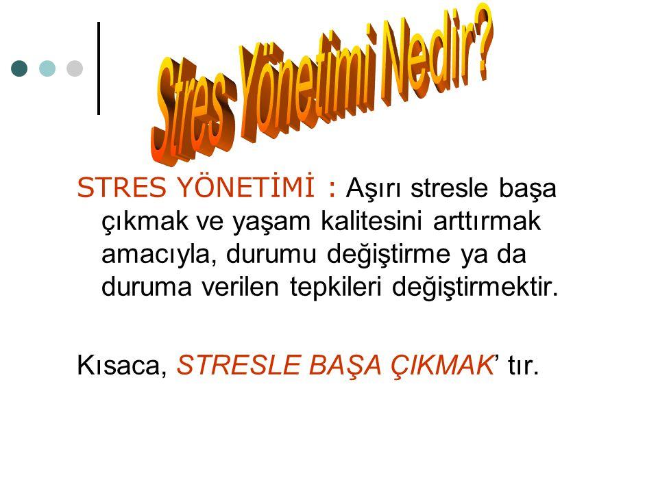 Stres Yönetimi Nedir