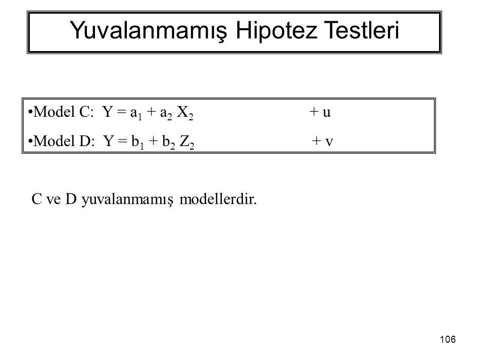 Yuvalanmamış Hipotez Testleri