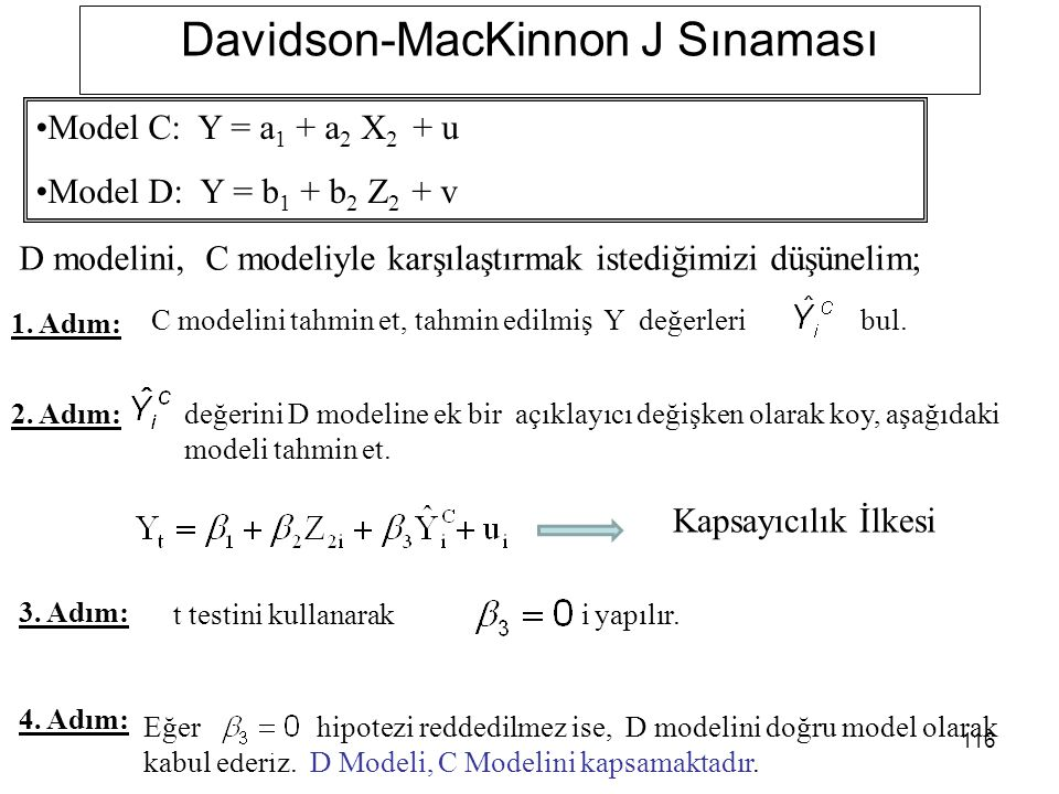 Davidson-MacKinnon J Sınaması