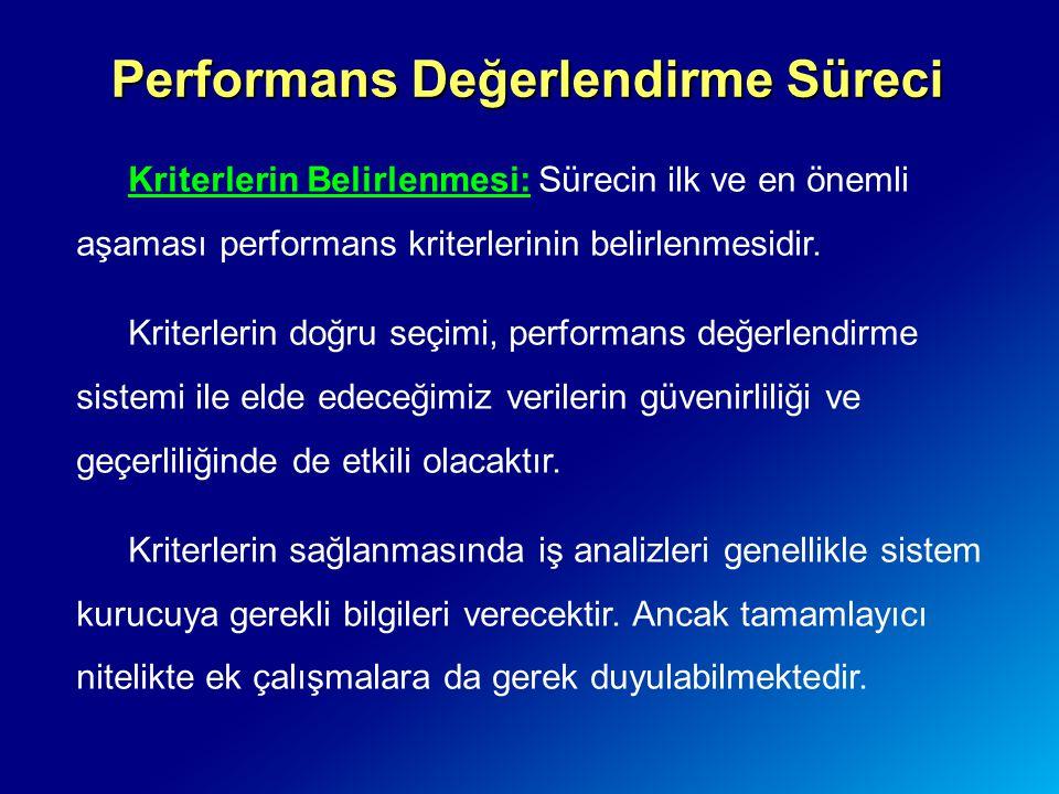Performans Değerlendirme Süreci