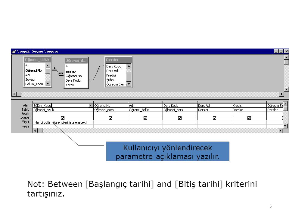 Kullanıcıyı yönlendirecek parametre açıklaması yazılır.