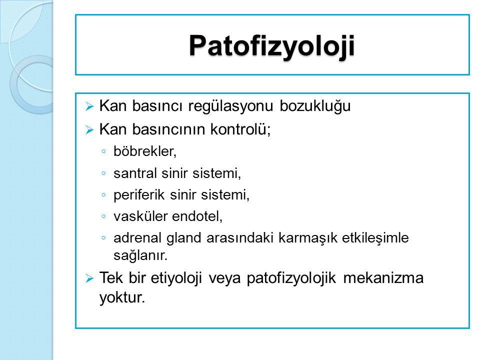 Patofizyoloji Kan basıncı regülasyonu bozukluğu