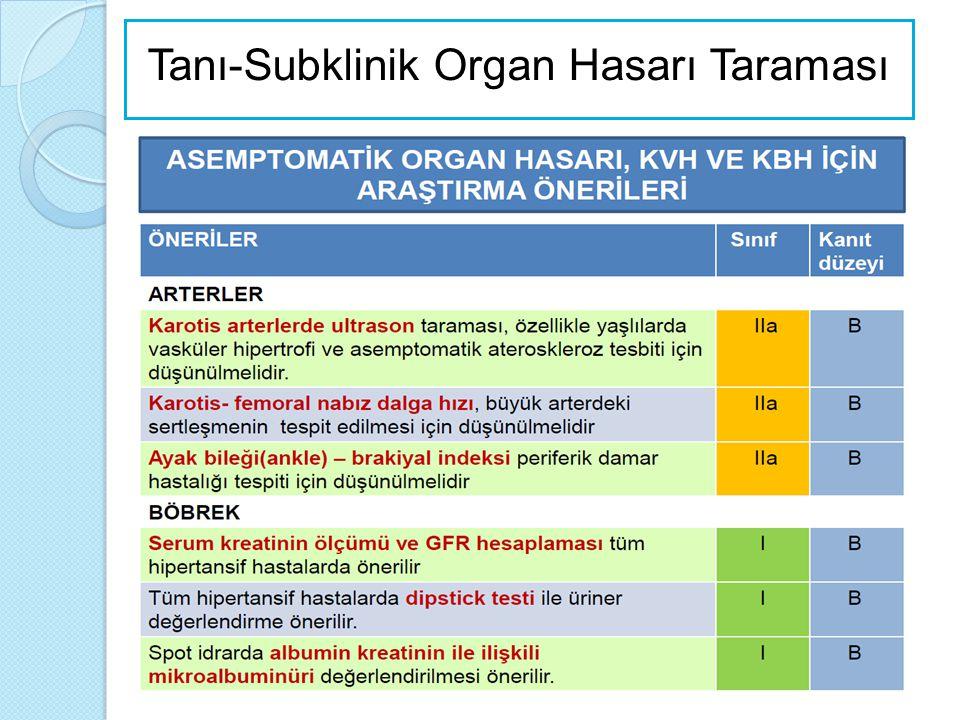 Tanı-Subklinik Organ Hasarı Taraması