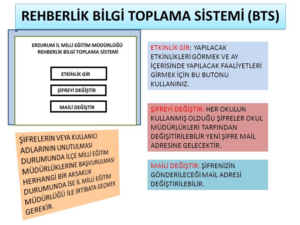 REHBERLİK BİLGİ TOPLAMA SİSTEMİ (BTS)