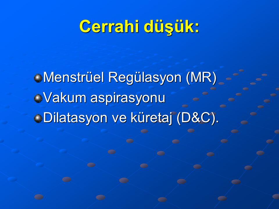Cerrahi düşük: Menstrüel Regülasyon (MR) Vakum aspirasyonu
